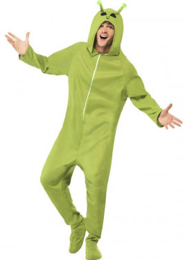 Disfraz de Alien verde para hombre