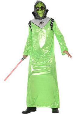 Costume alieno verde per un uomo