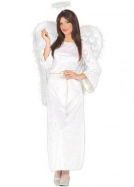 Disfraz de Ángel blanco de terciopelo para mujer