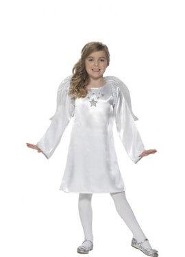 Disfraz de Ángel Blanco para niña