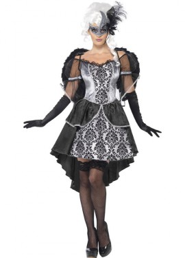 Disfraz de Ángel Oscuro Mascarada para Mujer