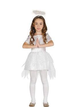 Disfraz de Ángel Plateado para niña