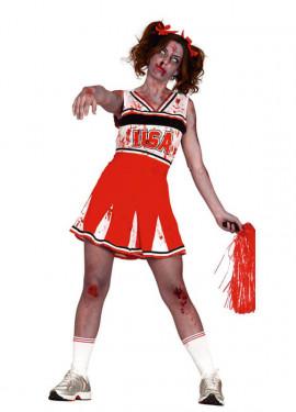 Disfraz de Animadora Cheerleader Zombie