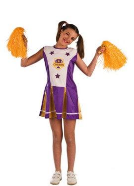Disfraz de Animadora Morada para niña