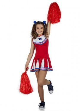 Disfraz de Cheerleader o animadora para niña