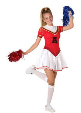 Costume da cheerleader per un adolescente