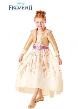 Disfraz de Anna Dorado de Frozen 2 para niña