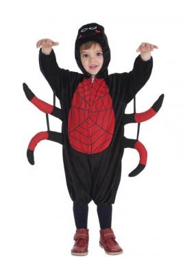 Disfraz de Arañita roja y negra para niño