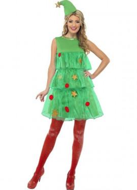 Disfraz de Árbol de Navidad con Tutú de Mujer