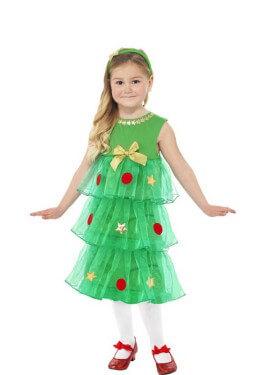 Disfraz de Árbol de Navidad con tutú para niña