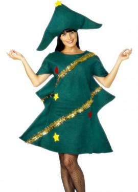 Disfraz de Árbol de Navidad Verde para Mujer