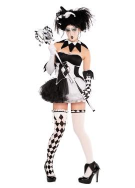 Disfraz de Arlequín con tutú para mujer para Halloween
