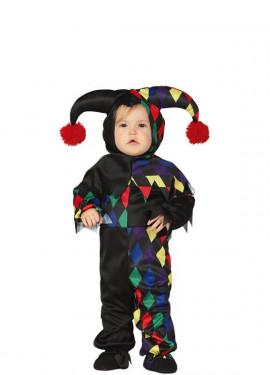 Disfraz de Arlequín Multicolor para bebé