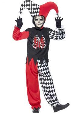 Disfraz de Arlequín Siniestro para Niños
