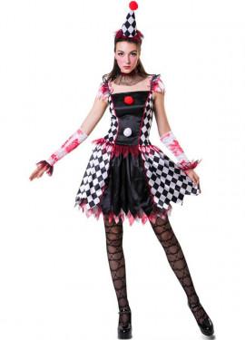 Disfraz de Arlequina Traviesa para mujer