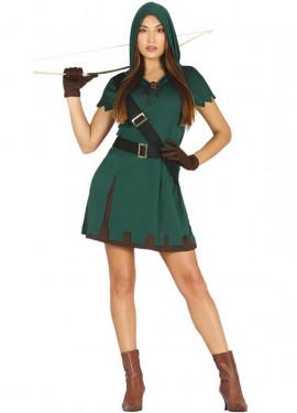 Da Uomo 6 PC Arciere Robin Hood Medievale TV Film Costume Vestito M /& L