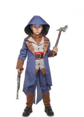 Disfraz de Asesino Azul para niño