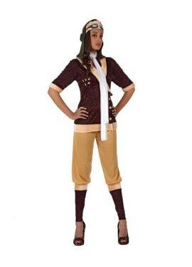 Costume vintage da aviatore per donna