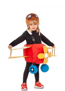 Disfraz de Avión Rojo para niños