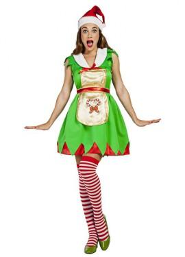 Disfraz de Ayudante de Santa Claus para mujer