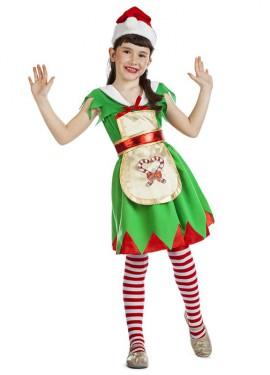 Disfraz de Ayudante de Santa Claus para niña