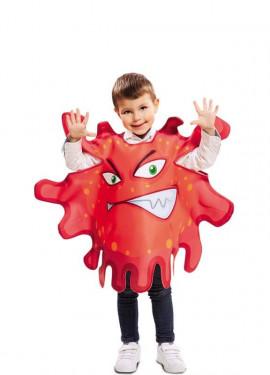 Disfraz de Bacteria roja para niños