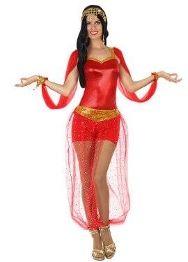 Disfraz de Bailarina Árabe rojo para mujer