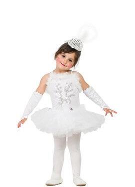 Disfraz de Bailarina Blanca para niña