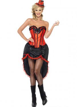 Déguisement de Danseuse Cabaret Rouge pour Femme plusieurs tailles