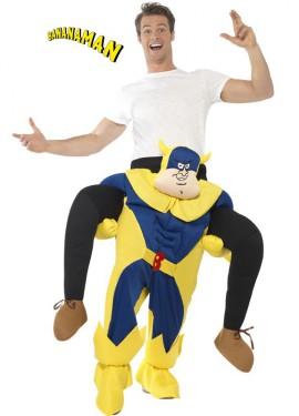 Disfraz de Bananaman a hombros para adultos