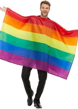 Costume da bandiera arcobaleno del Gay Pride per Adulti