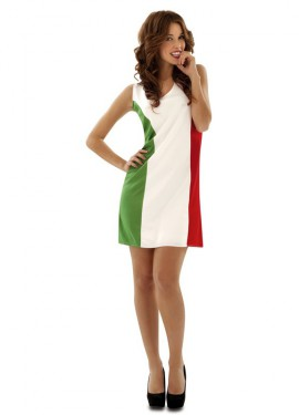 Disfraz de Bandera Italiana para mujer