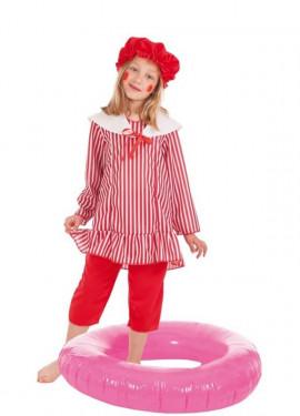 Disfraz de Bañista con Flotador para niña