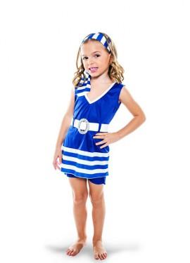Disfraz de Bañista Vintage para niña