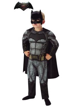 Disfraz de Batman de BvS Musculoso en caja para niño