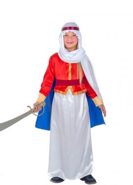 Disfraz de Beduina Roja para niña