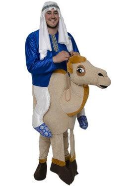 Disfraz de Beduino montando Camello para adultos