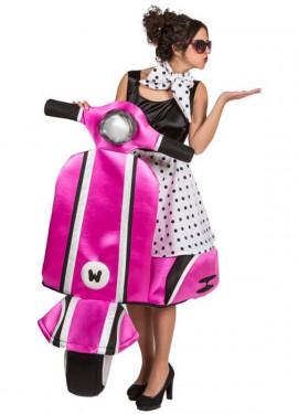 Disfraz de Chica años 50 sobre Ruedas para adultos
