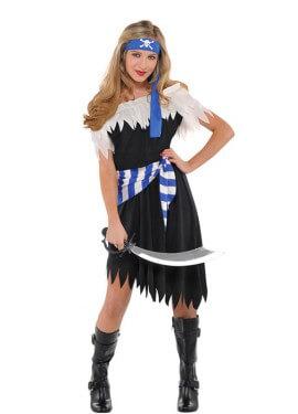 Costume di bellezza pirata per bambine adolescenti