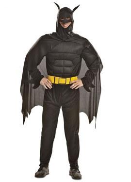 Disfraz de Superhéroe Oscuro musculoso para hombre