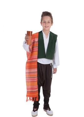 Disfraz de Bodeguero medieval para niño