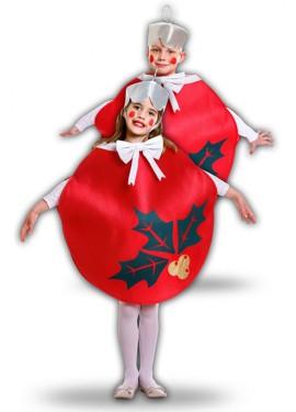 Disfraz de Bola De Navidad Roja para niños