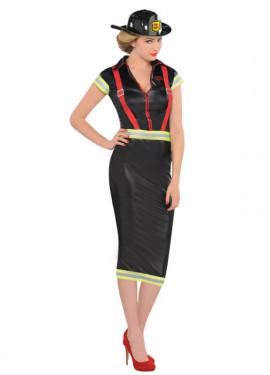 Disfraz de Bombera pin-up para mujer