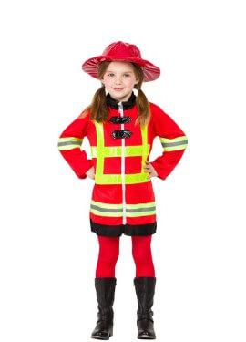 Disfraz de Bombera Roja para niña