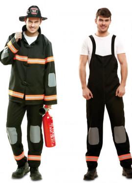 Déguisement Pompier en noir