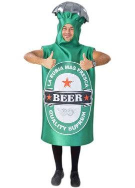 Disfraz de Botella de Cerveza Verde para adultos