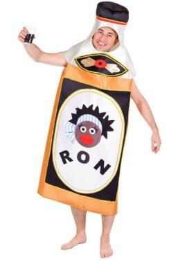 Disfraz de Botella de Ron para adulto