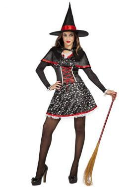 Disfraz de Bruja Corazones para mujer