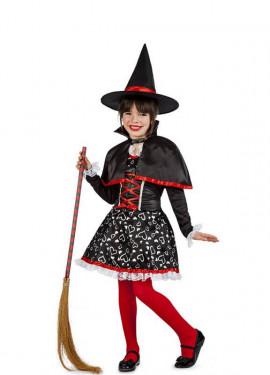 Disfraz de Bruja Corazones para niña