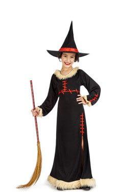 Disfraz de Bruja Costuras para niña